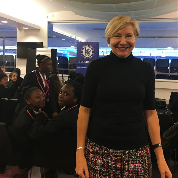 Fiona Davis in action with The Chelsea Football Club Foundation